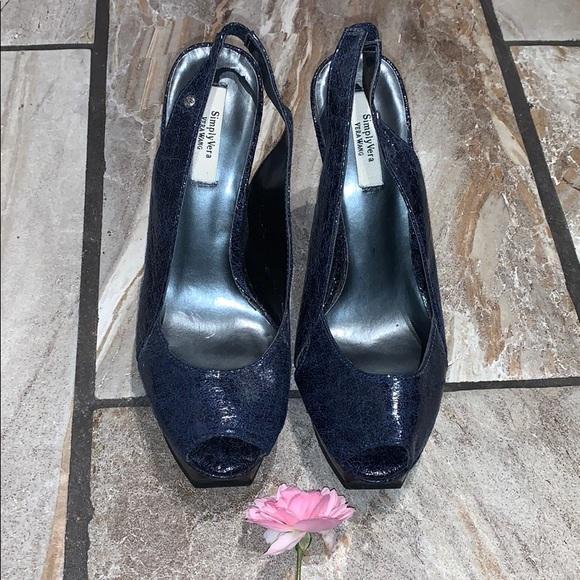Dark Blue Simply Vera Wang Heels